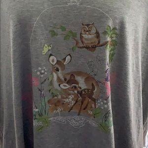 torrid Tops - NWT Torrid Disney Bambi Grey Collar Top 5X
